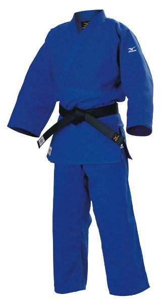 MIZUNO Judoanzug YUSHO blau, Made in Japan, IJF-proofed